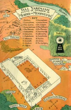 Dell #145, Murder in Mesopotamia (map back)