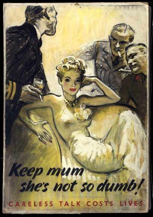 German spies, propaganda poster