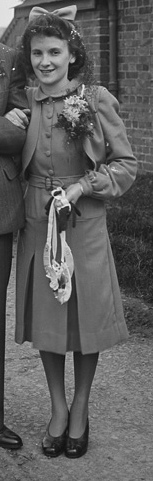 1948 suit with bolero jacket