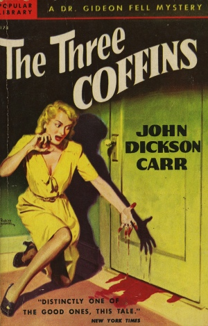 John Dickson Carr, The Three Coffins, Belarski cover